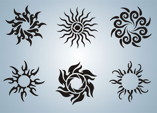 Sun stencils 1.5 inches each