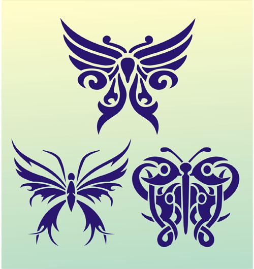 Butterfly Tattoo Stencil Design from Stencil Kingdom