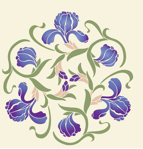Large Flower Stencils : Stencil designs from kingdom