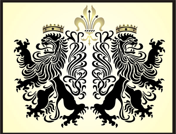 Lions Rampant Gothic Stencil Design From Kingdom