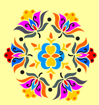 indian lotus design