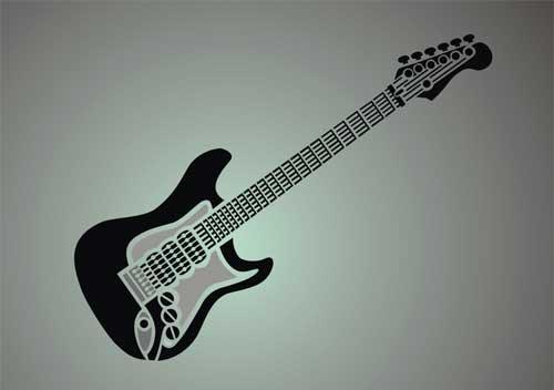 Electric Guitar Stencil Electric Guitar Stencil