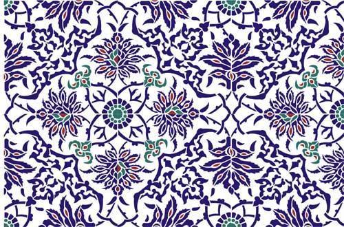 Iznik Tile Panel Ottoman Stencil Design From Stencil Kingdom