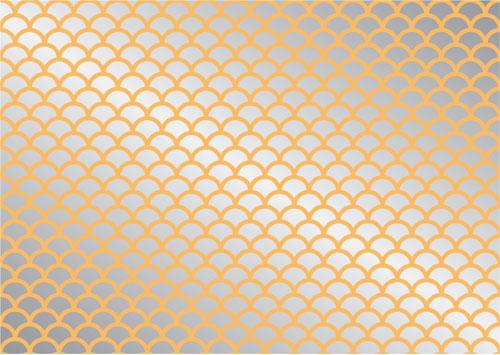 Fish scales design for Fish scale stencil