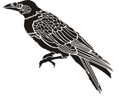 Crow | Stencil Designs from Stencil Kingdom