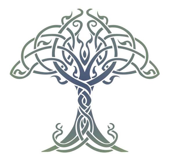 celtic tree of life stencil designs from stencil kingdom. Black Bedroom Furniture Sets. Home Design Ideas