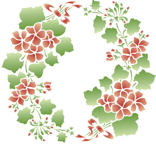 Flower Design Stencil Pattern
