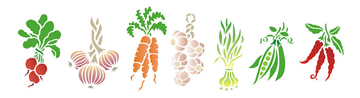 Garden Feast (Fruit16) Set Of 7 Individual Stencils Measuring Between 7 And  9.5 Inches Tall. (19 And 27cm) $18 : Add
