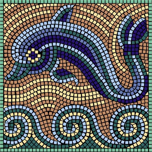 dolphin mosaic18 23 x 23 58cm x 58cm