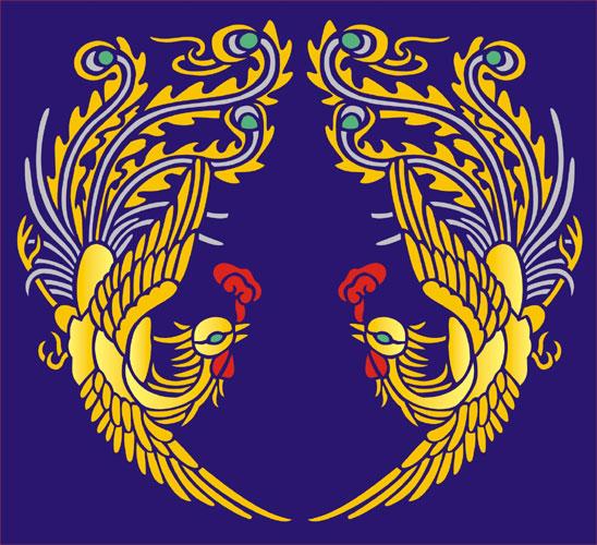 Phoenix Circle Oriental Stencil Designs from Stencil Kingdom